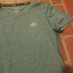 adidas Tops - Adidas Climalite Blue Short Sleeve Shirt